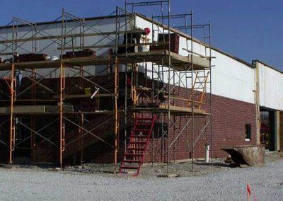 bricking ELFI walls. Avon, IN shopping strip