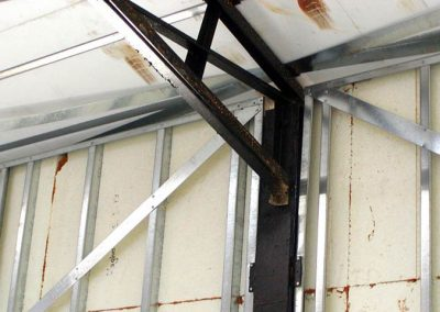 50' (15m) open span construction, school building Nixa, MO