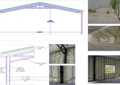 proposal, large span (up to 60') open space